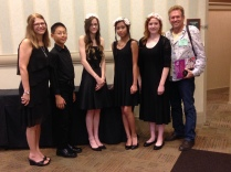 Our KMTA ensemble: (L-R) Kay Lowry (Director), Ryan Chen, Hannah Townsend, Kendra Nguyen, Natalie Carey and Larry Harms