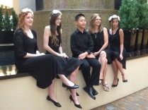 (L-R) Natalie Carey, Hannah Townsend, Ryan Chen, Kay Lowry (Director) Kendra Nguyen