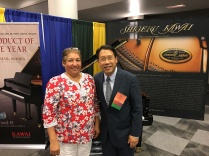 D Lopez with Brian Chung CEO for Kawaii Pianos.